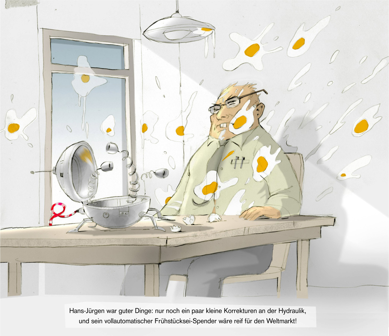 Eier-Cartoon