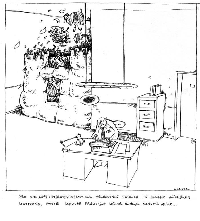 Büro-Cartoon