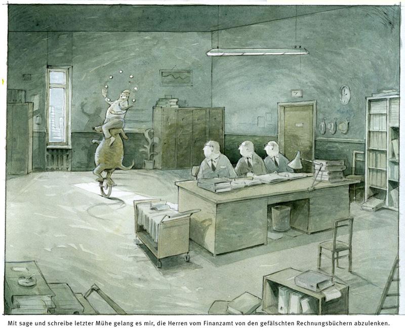 Finanzamt-Cartoon
